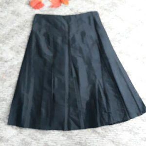 Gypsy By Karen Fowler Women Black Silk Skirt SZ 4